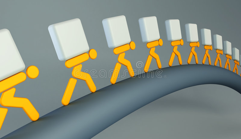 People carrying the loads royalty free illustration