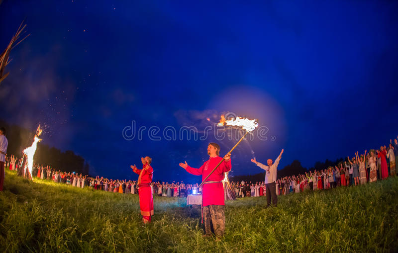 People celebrate the holiday and Russian dance in stock photos