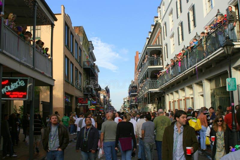 People celebrated crazily in Mardi Gras parade.