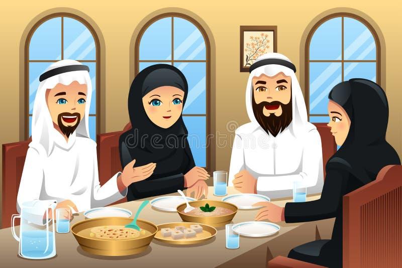 People celebrating Eid-Al-fitr. A vector illustration of people celebrating Eid-Al-fitr stock illustration