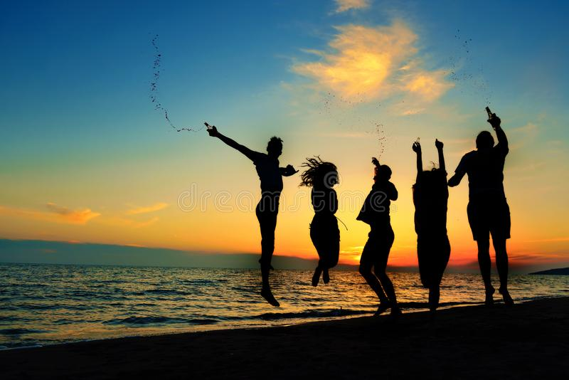 People Celebration Beach Party Summer Holiday Vacation Concept royalty free stock photography