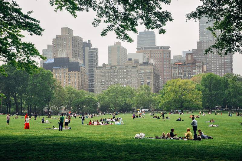 People in Central Park in Manhattan. stock photography