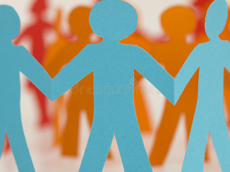 People chain royalty free stock photos