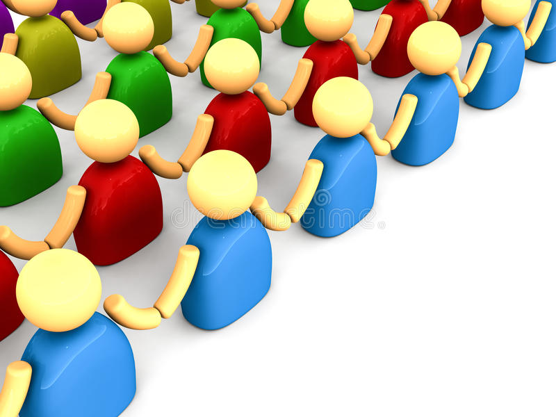 People chain communities royalty free illustration