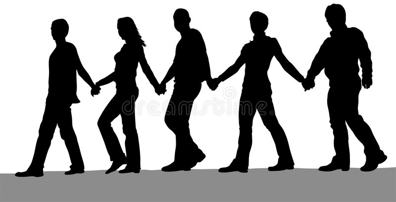 People chain vector royalty free stock photography
