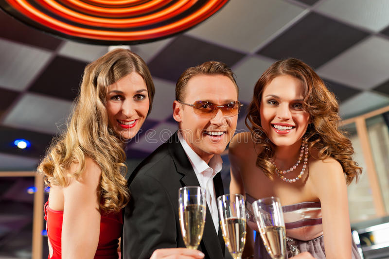 Download People With Champagne In A Bar Stock Photo - Image of celebrate, champagne: 22335870