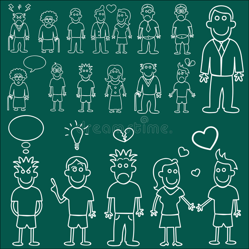 People Characters Vector Royalty Free Stock Photos