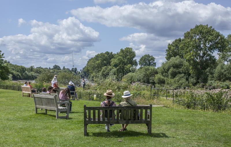 People chilling, Kew Gardens, London. royalty free stock photos