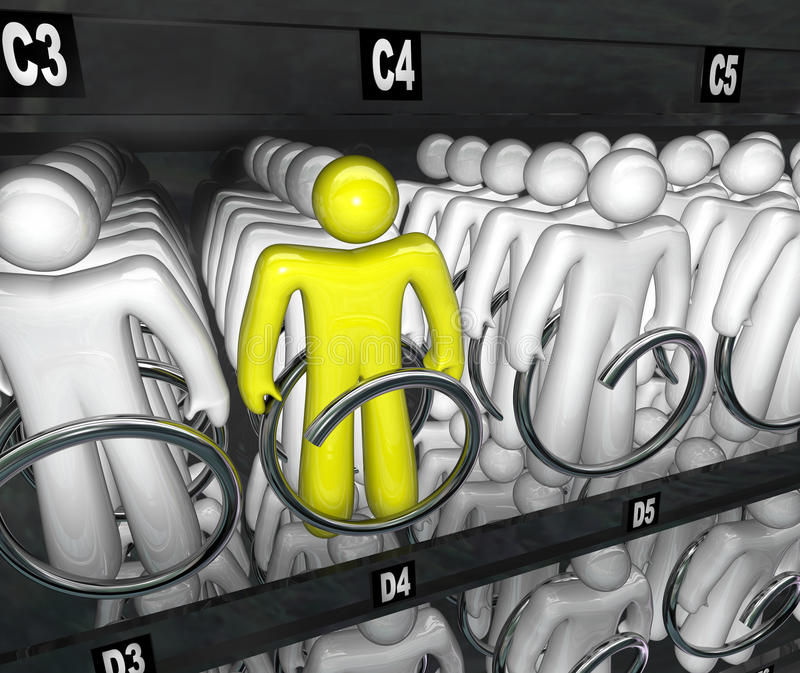 Download People Choices Snack Vending Machine Choice Stock Illustration - Image: 26510209