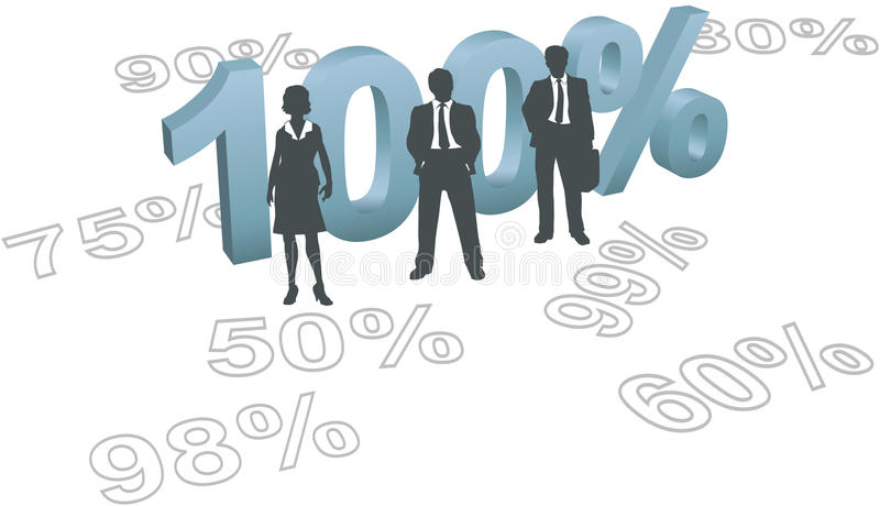 People Choose 100 Per Cent Quality Effort Stock Photo