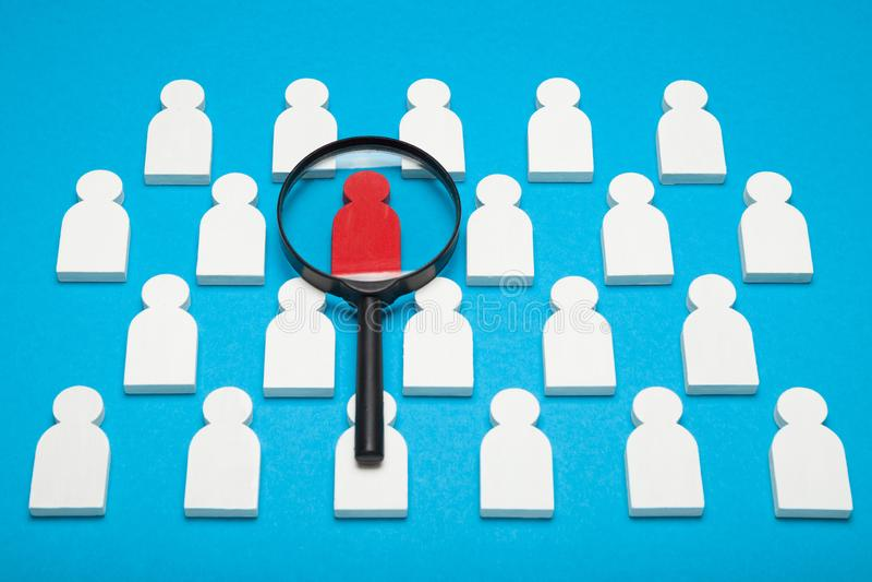 People choose winner, job opportunity. Success teamwork concept stock image