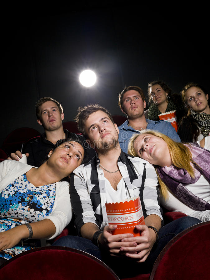 Download People at the cinema stock image. Image of entertainment - 21373849