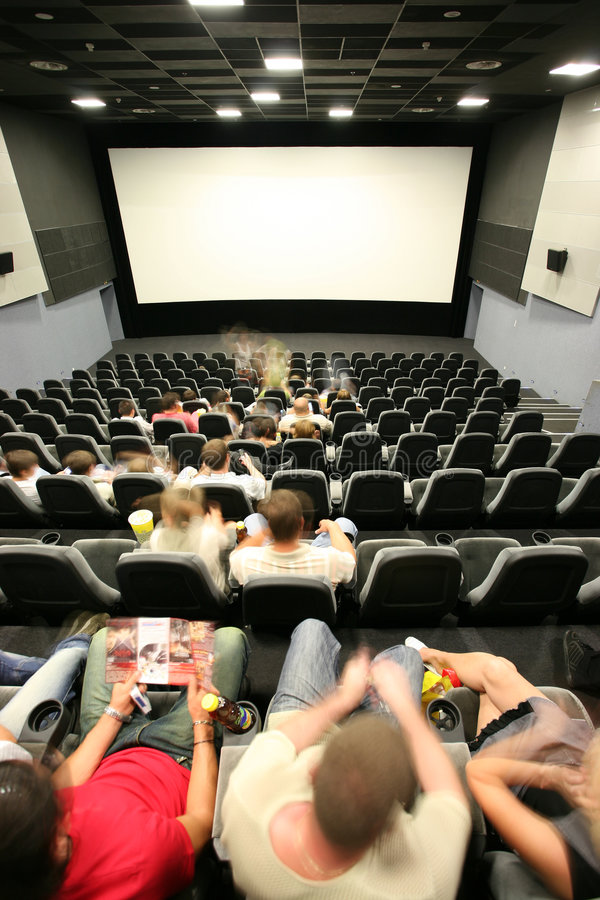 People in a cinema. Hall