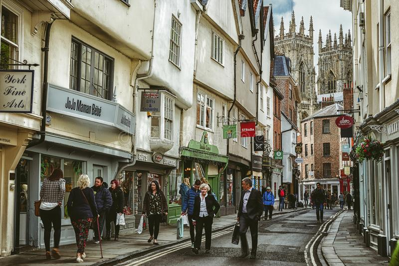 People in city York, England royalty free stock images
