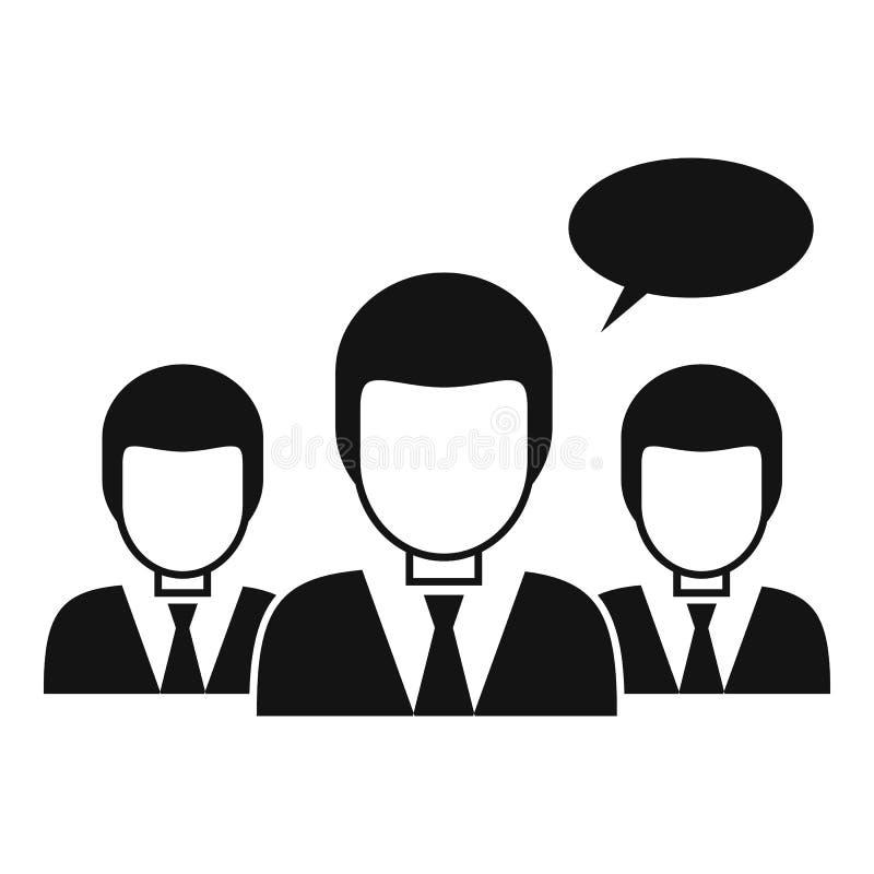 People classroom icon, simple style stock illustration