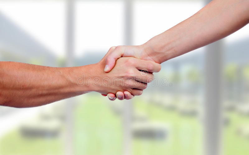 People closing a deal. With a handshake royalty free stock images
