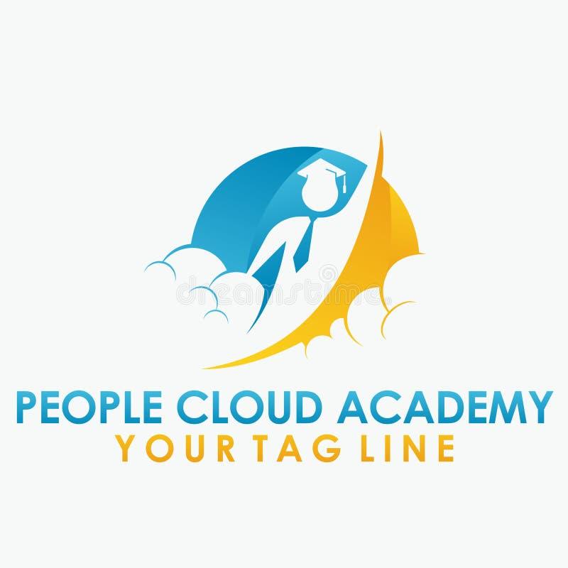 People Cloud academy logo royalty free stock photos