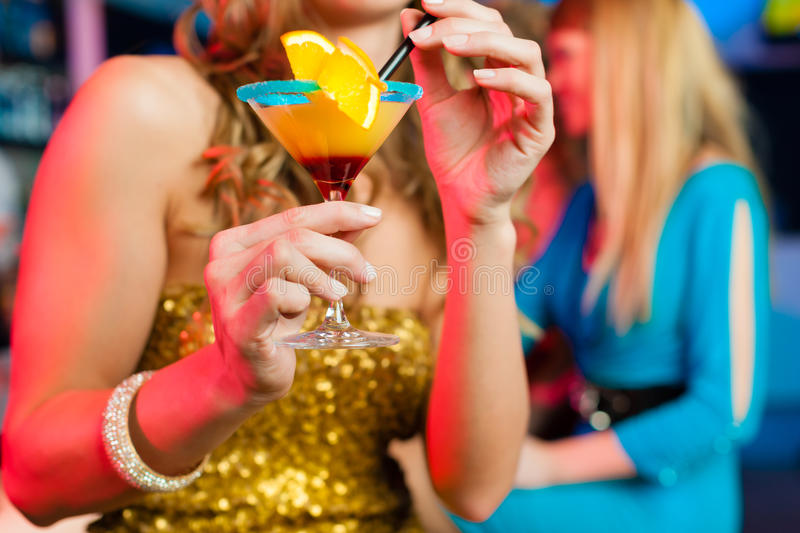 Download People In Club Or Bar Drinking Cocktails Royalty Free Stock Images - Image: 24649589