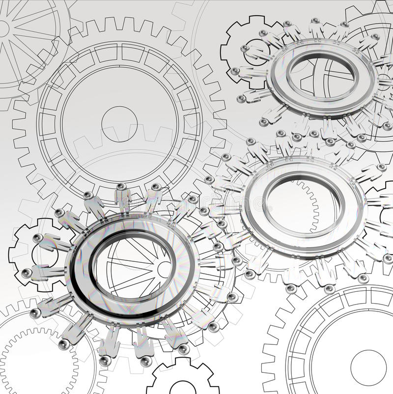 People cogs as concept vector illustration