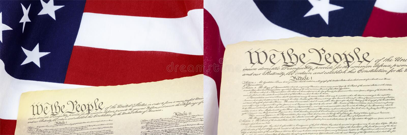 We the people collage American flag royalty free stock photos