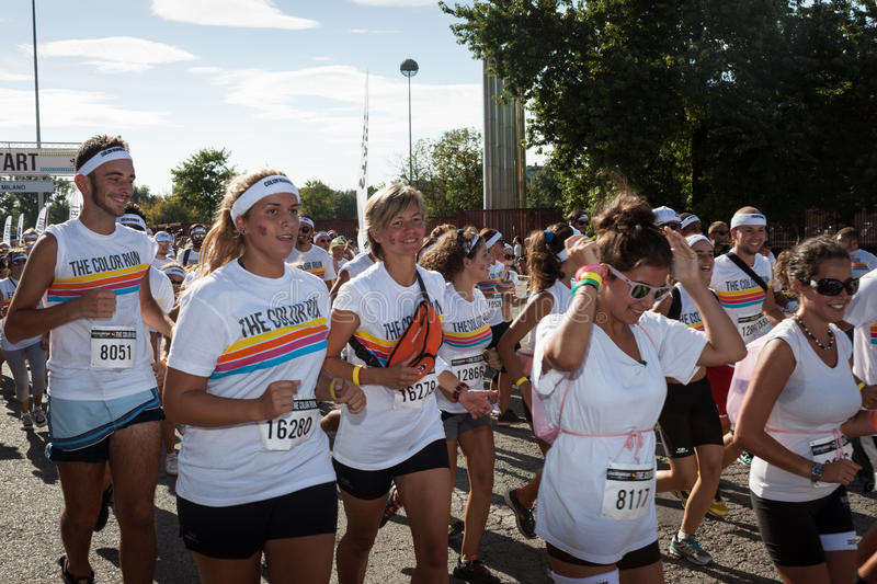 Download People At The Color Run Event In Milan, Italy Editorial Stock Image - Image: 33502679