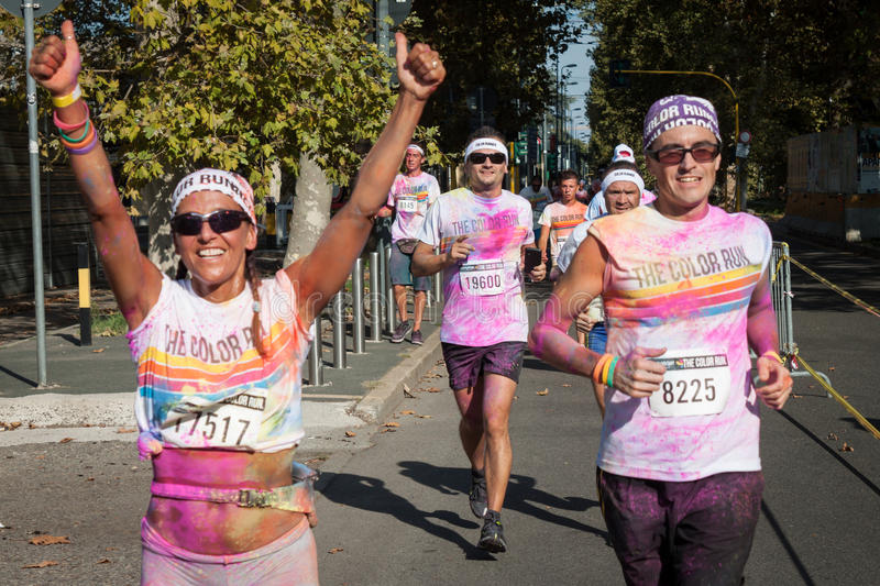Download People At The Color Run Event In Milan, Italy Editorial Photo - Image: 33502646