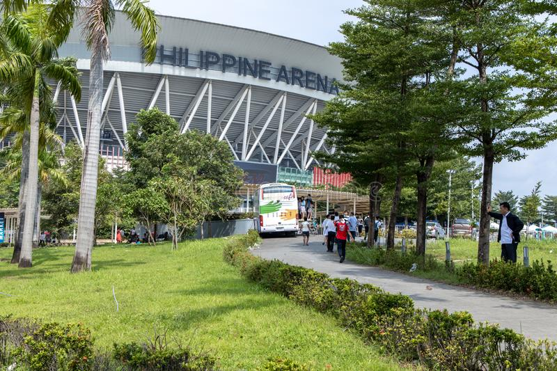 People coming out of the Philippine Arena, Bulacan, Philippines, Sep 7,2019. Sep 7,2019 People coming out of the Philippine Arena, Bulacan, Philippines stock photo