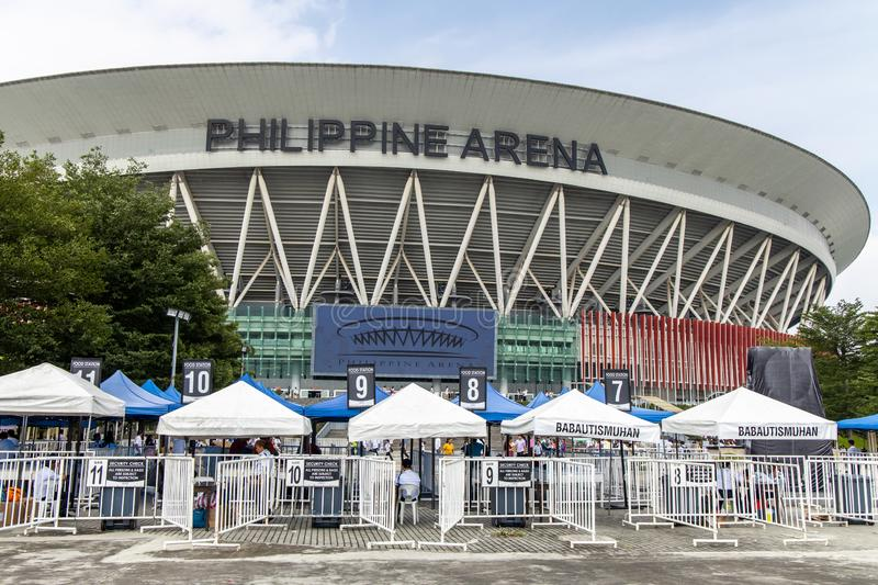 People coming out of the Philippine Arena, Bulacan, Philippines, Sep 7,2019. Sep 7,2019 People coming out of the Philippine Arena, Bulacan, Philippines royalty free stock images