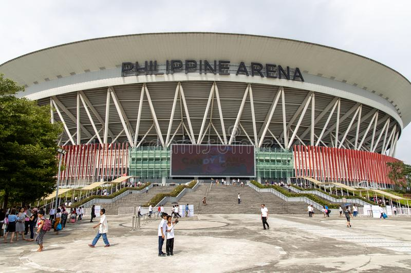 People coming out of the Philippine Arena, Bulacan, Philippines, Sep 7,2019. Sep 7,2019 People coming out of the Philippine Arena, Bulacan, Philippines stock image