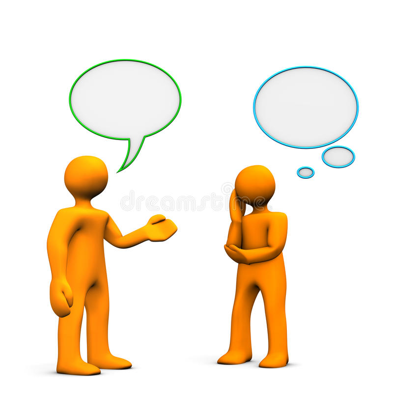 Download People communicating stock illustration. Illustration of orange - 20375412
