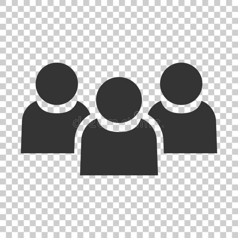People communication icon in flat style. People vector illustration on isolated background. Partnership business concept. stock illustration