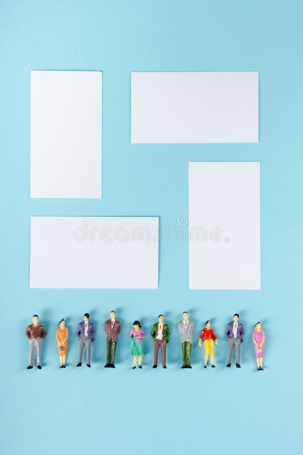 People community, togetherness concept on blue background with copy space for ad text. stock images