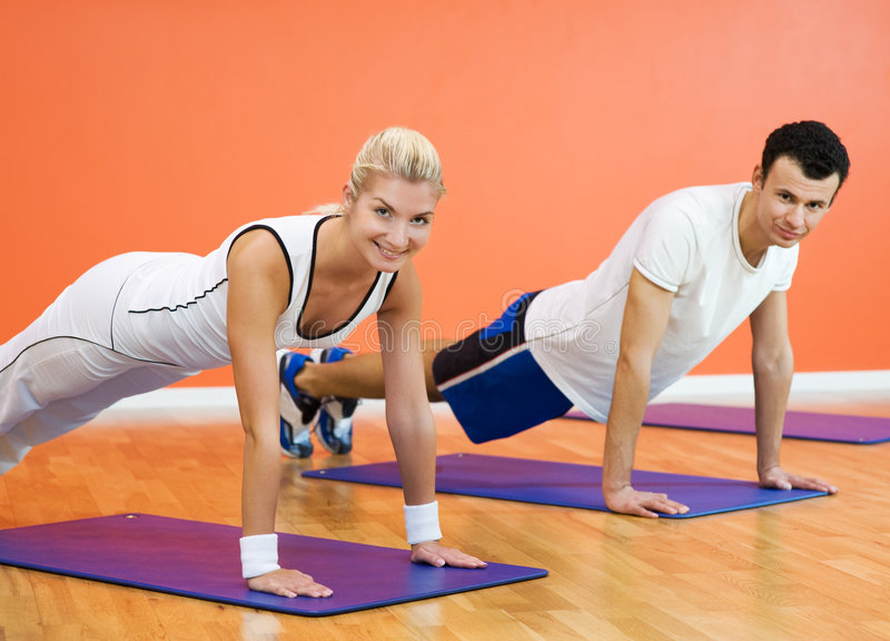 Download People completing push ups stock image. Image of girl - 9076125