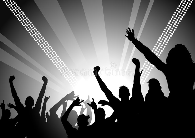 People at a Concert stock illustration