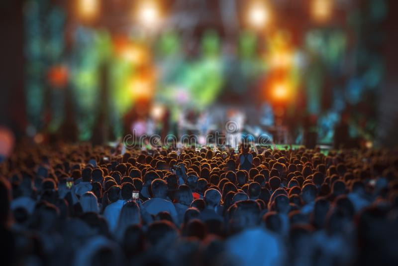 People at the concert royalty free stock photo