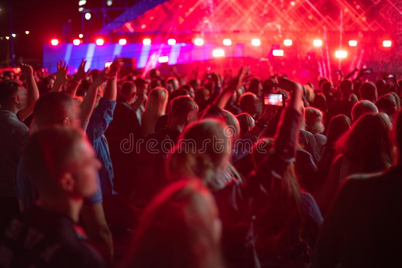 People at the concert. Are waiting for the show royalty free stock images