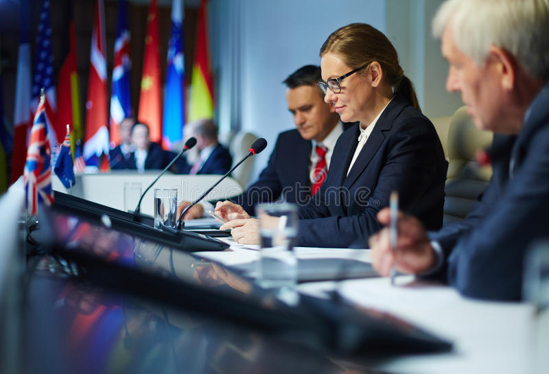 People at conference royalty free stock photo