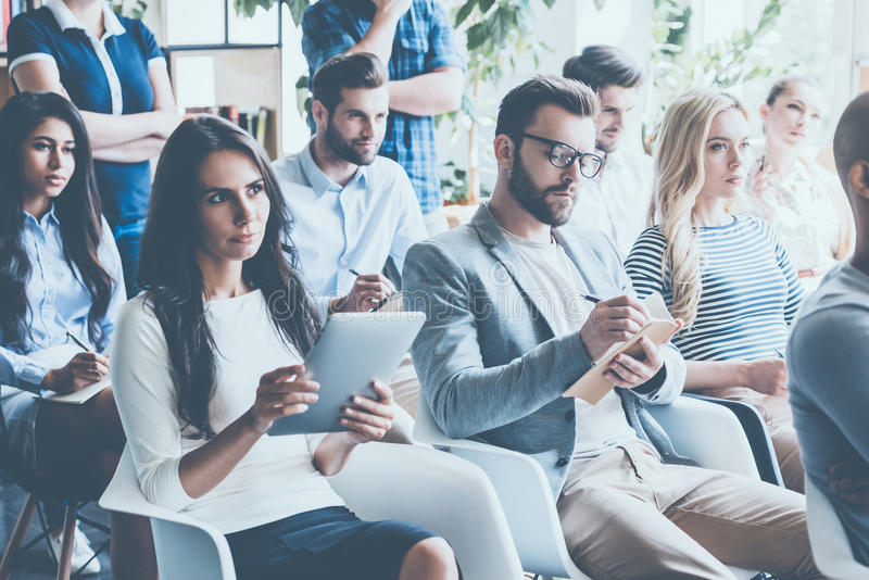 People on conference. royalty free stock image