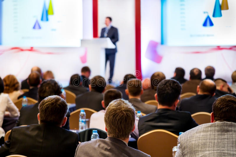 People at the conference royalty free stock photography