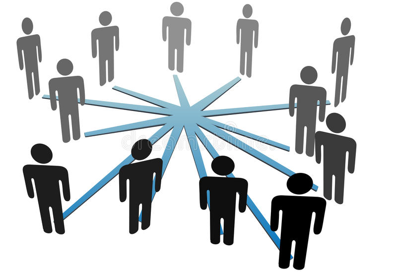 People connect in social media network or business royalty free illustration