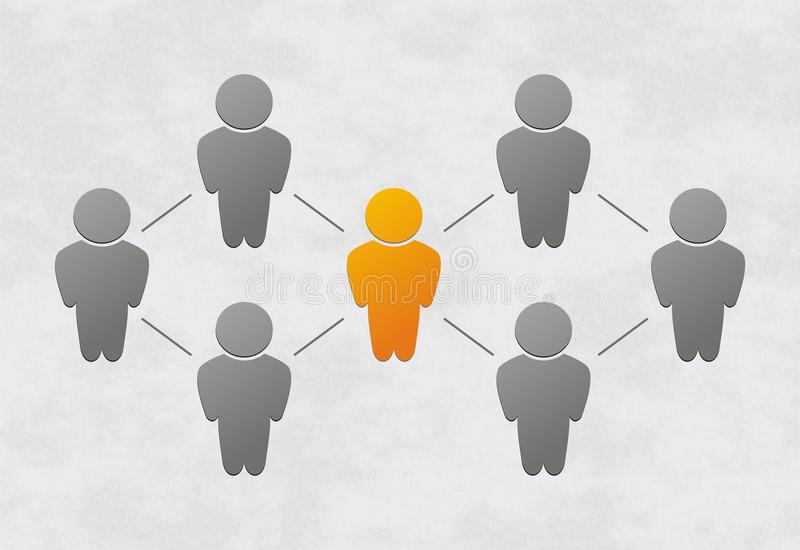 People connected stock illustration