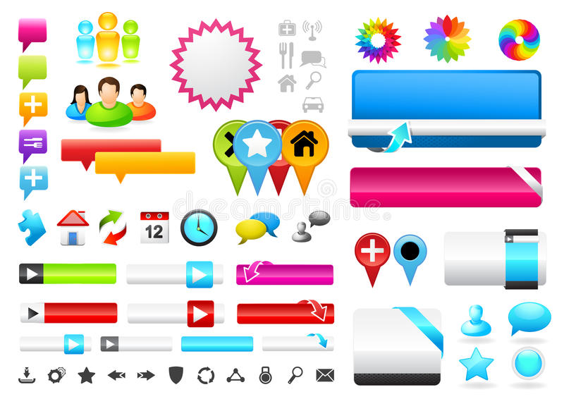 People Connected Symbols stock illustration