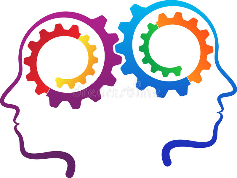 People contribution gears. A vector drawing represents people contribution gears design royalty free illustration