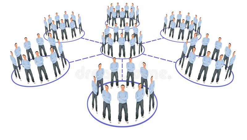 People cooperation system scheme collage. People cooperation system scheme on white, collage stock images