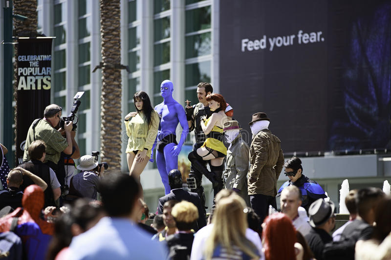 Download People In Costumes editorial stock image. Image of comiccon - 34663714