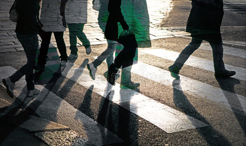 Download People crossing street stock image. Image of crossing - 22672831