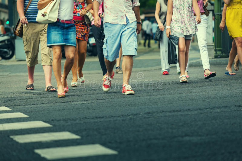 People Crossing The Street Stock Photography