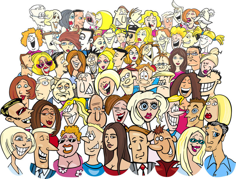 People in the crowd vector illustration