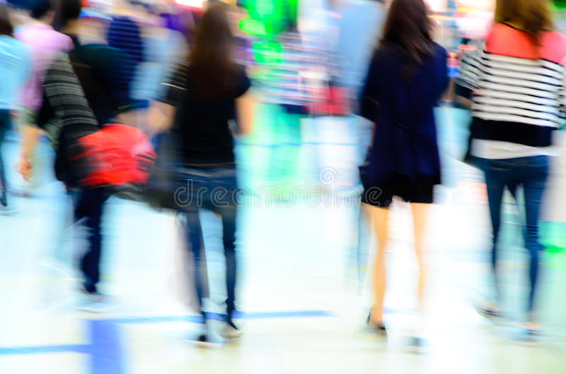 People crowd blur stock photo