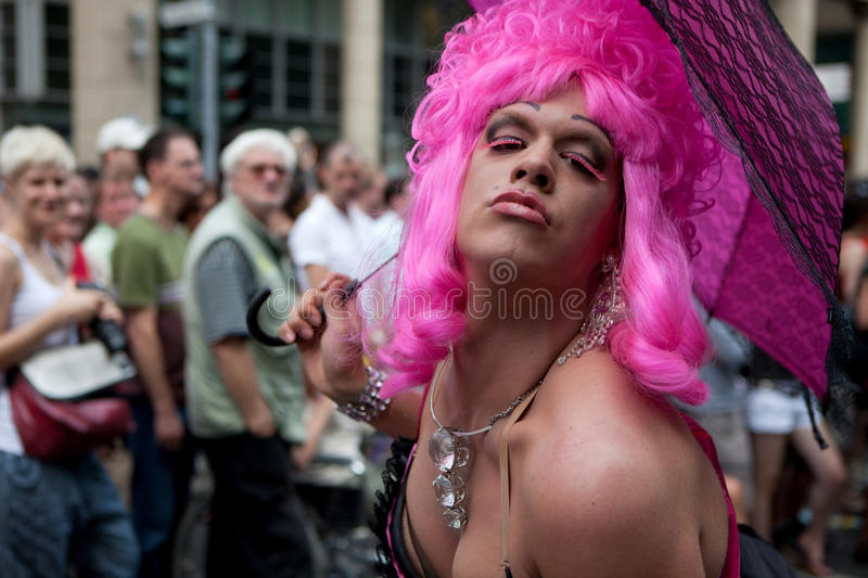 People on CSD 2009 Cologne. People on the Christopher Street Day (CSD) in Cologne on the 07/05/2009 royalty free stock images